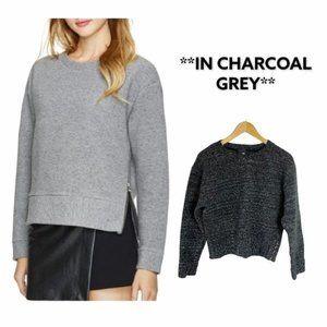 ARITZIA WILFRED FREE Zuzanna Charcoal Grey Sweater